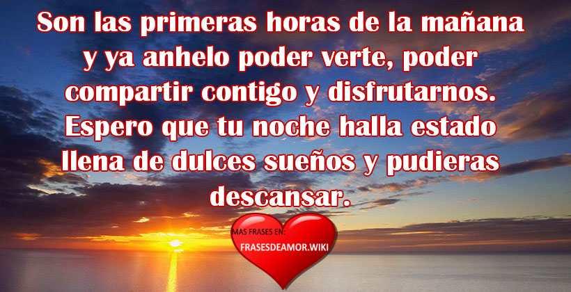 Frases Mensajes De Buenos Días Para Mi Amor Bonitos Cortos